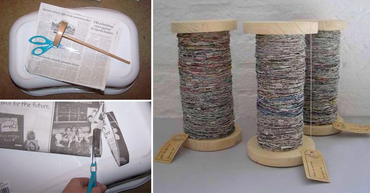 Use old newspapers to produce paper yarn!