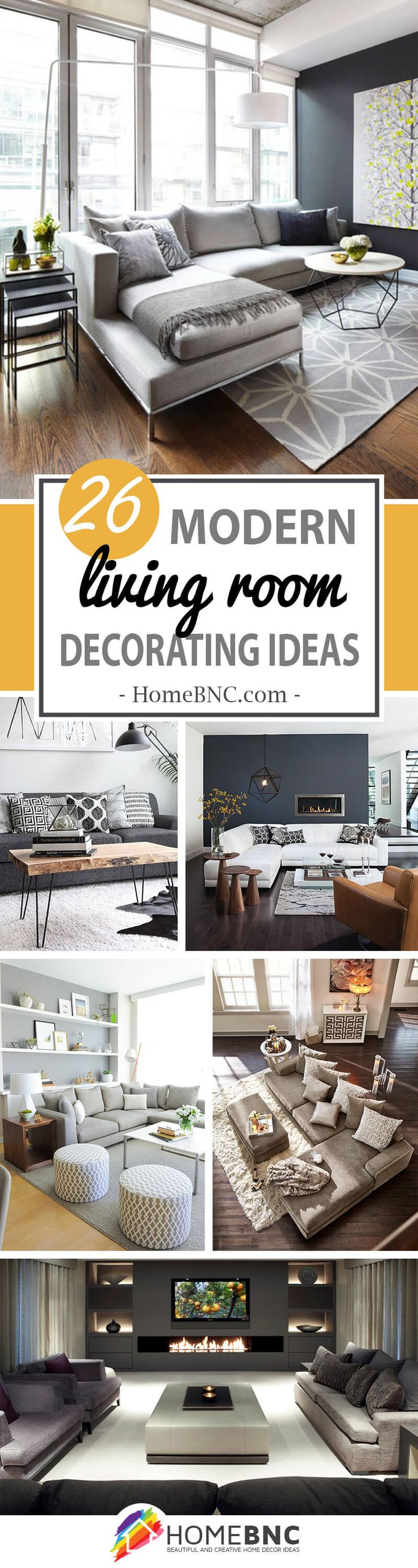 26 Stylish Ways Modern Living Room Decorating