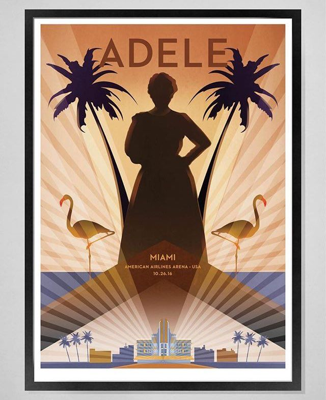 Adele at 'American Airlines Arena', Miami, Florida (Oct. 26) poster #AdeleLive2016