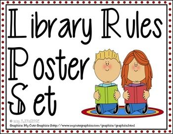 A set of library rules posters that every library needs! Print on a standard printer or plotter, or take to your local print shop!Set includes:- 3 versions of the Library Rules poster with one rule for each letter in LIBRARY!- Individual rules posters for each letter in LIBRARY!L: Listen to the librarian.I: Inquire (ask) if you need help.B: Be respectful of others.R: Read and talk quietly.A: Always walk, never run.R: Return books to their proper places.Y: Your manners are appreciated!