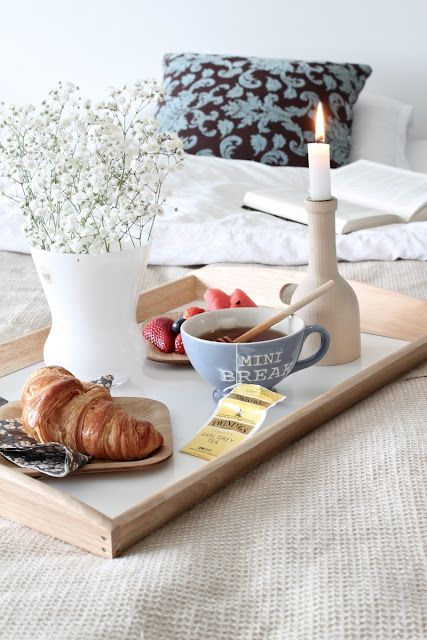 Breakfast in bed. A #perfect Sunday morning