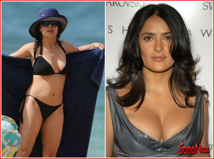 Salma Hayek measurements bra size height weight