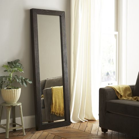 Parsons Floor Mirror - chocolate-stained veneer. I'd love to have a free-standing mirror to open up a small room (via westelm.com, $399)