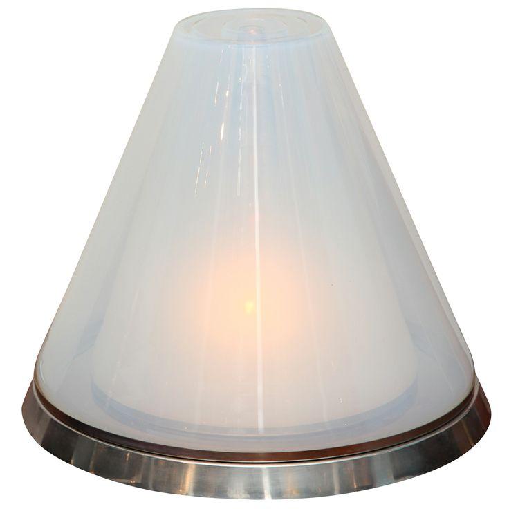 Pyramid Glass Table Lamp by Carlo Nason for Mazzega | 1stdibs.com