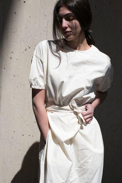 Cosmic Wonder Wrap Dress Natural / rennes