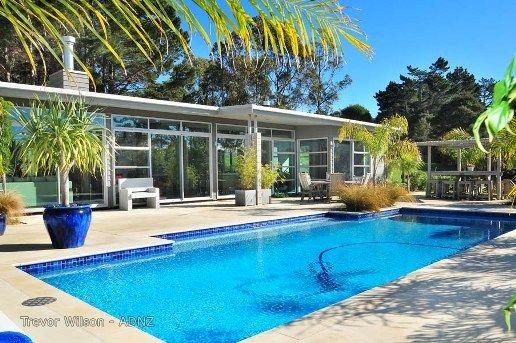 Designed by Trevor Wilson.  #outdoorliving #adnz #pool #summertime