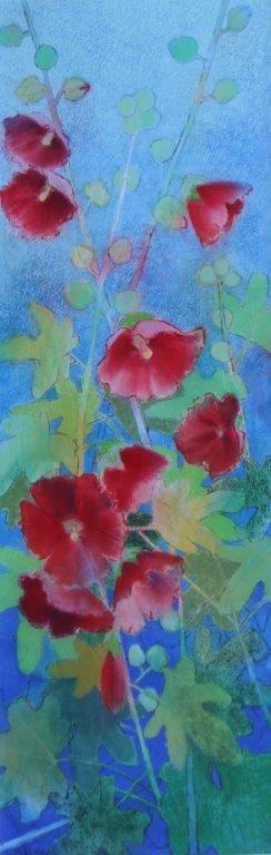 Hollyhock IG - Loes Botman pastels, pastelkrijt tekeningen