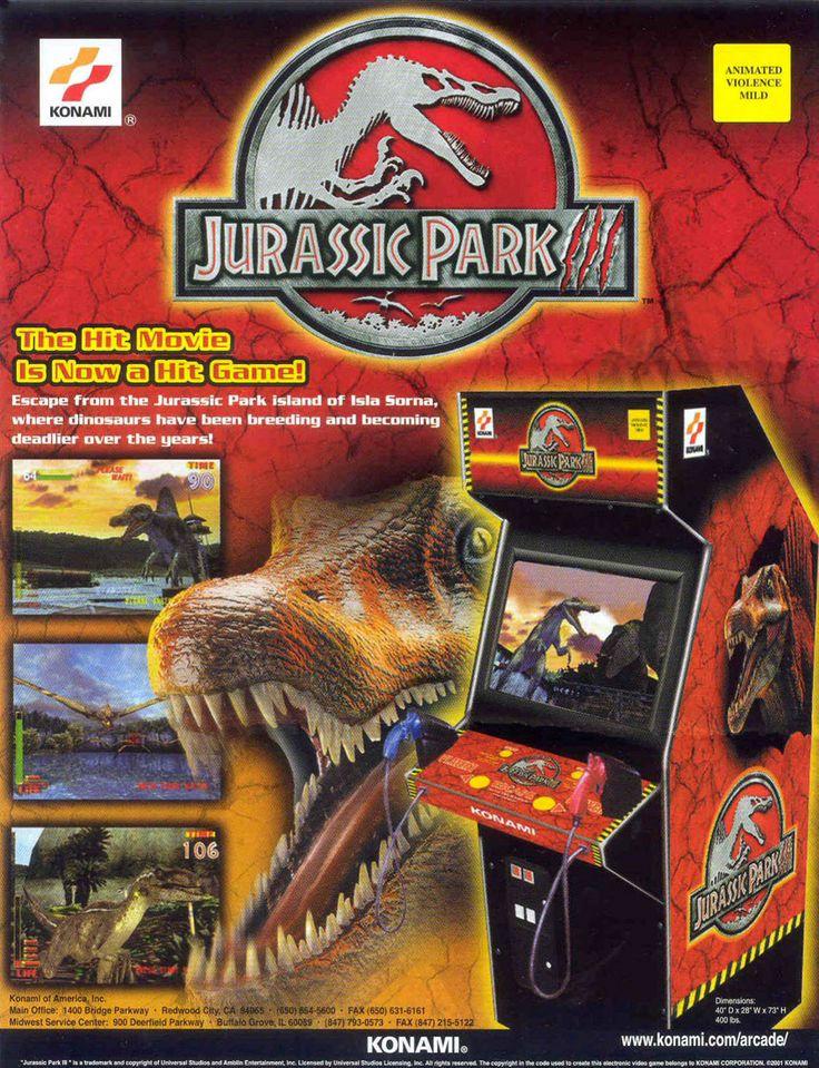 Jurassic Park III (con imágenes) Juego de arcade, Arcade