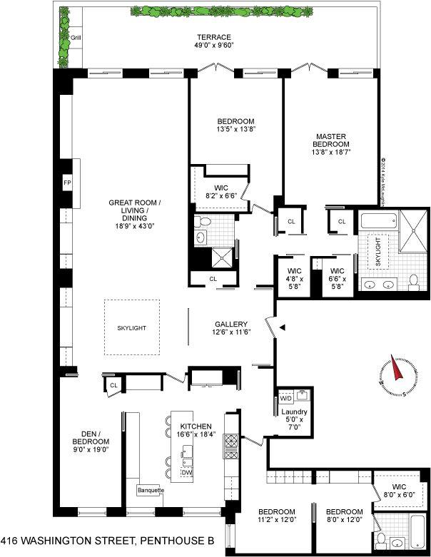 267 best apartment floorplans images on pinterest | penthouses