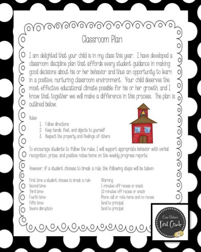 Classroom Management  After reading this ladies blog, I really like how she set up her rule. She teaches younger children therefore you do not want to overwhelm them or the parents with rules and punishments.