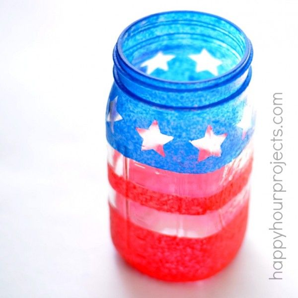 4th of july mason jar decor