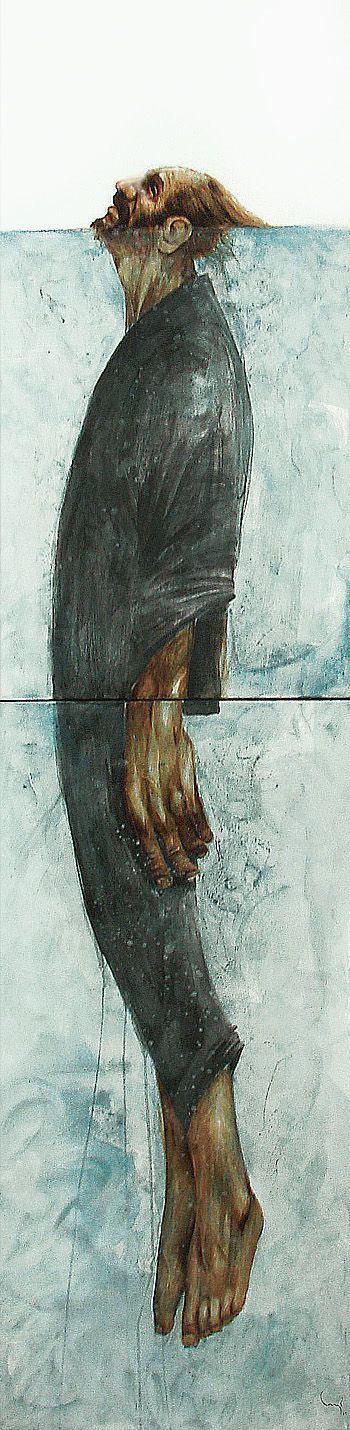 Bayo (aka Eduardo Flores) . Drowning . 2008 . Acrylic on canvas . 24 x 96 in (61…