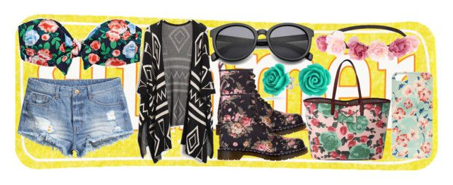 Summer by slytheriner on Polyvore featuring H&M, Aerie, Dr. Martens, Bling Jewelry and Charlotte Russe