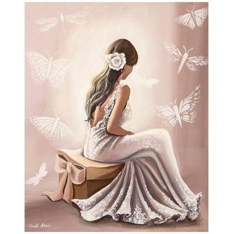 Image tableau 3D - La robe blanche www.crea-lire.com