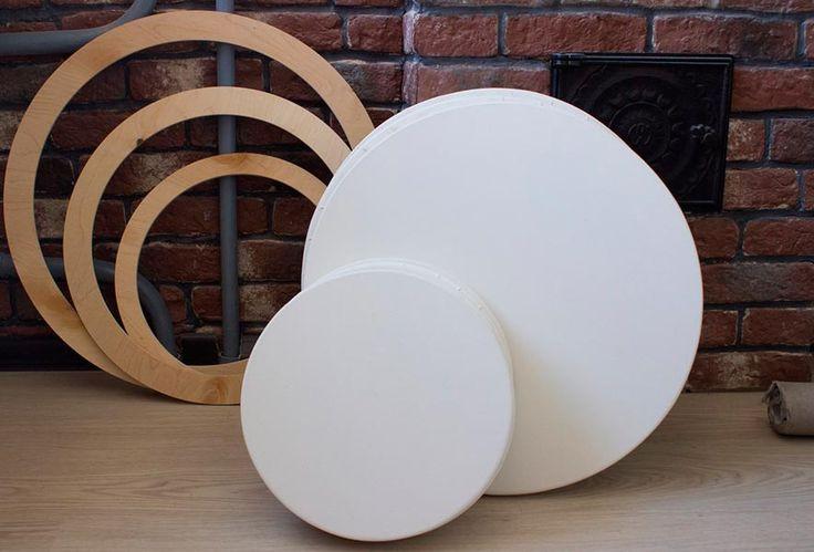 Дизайн интерьера , живопись, картины маслом и акварелью - все это с легкостью вы сделаете с круглым холстом