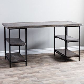 Shop for Renate Reclaimed Wood and Metal Office Desk. Get free shipping at Overstock.com - Your Online Furniture Outlet Store! Get 5% in rewards with Club O! - 13996331
