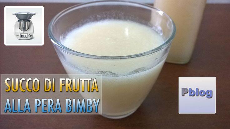 Succo di frutta alla pera bimby TM5 fatto in casa, ricetta senza conserv...