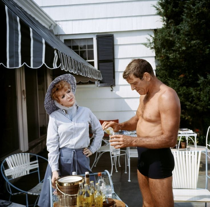 The Swimmer [1968] directed by Frank Perry, starring Burt Lancaster, Kim Hunter, Janice Rule, and Janet Landgard.