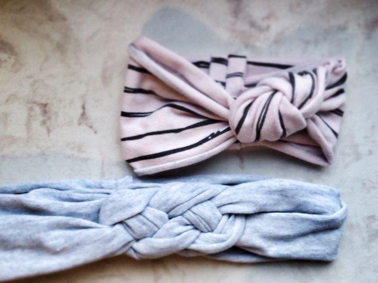 Wiążemy, szyjemy, uczymy się #3 Opaski, opaseczki dla małych i dużych :)   Dzianina elastyczna bawełniana. szybko, prosto i pięknie  #siwczakhome #handmade #babygirl #wraps