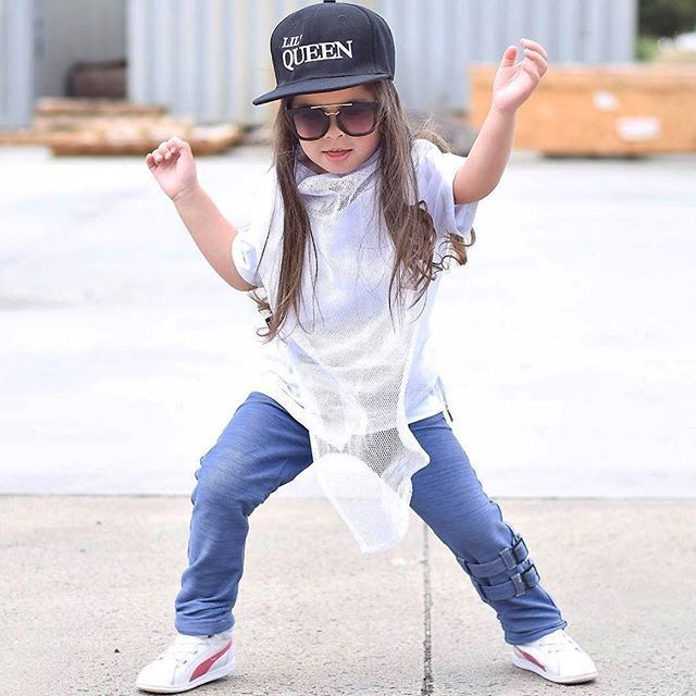 Weekends this awesome!  Gorgeous Aaliyah wears The Crossing - the coolest luxe mesh t-shirt matched nicely with the M-502 denim pants in light blue featuring straps  shop online today and pay it later with #afterpay or #zippay  > @mischiefandco < Tap link in bio or google: Mischief & co #mischiefandco #kidsfashion #kidsclothes #kidsclothing #kidsstreetfashion #kidsstreetwear #toddlerfashion #toddlerstyle #toddlersofig #influencer #summerfashion #kidsootd #shopthelook #kidatshirt #luxetees…