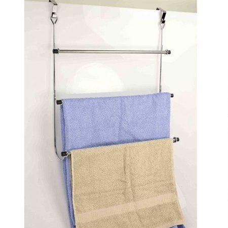 Hotel Towel Rack For Bathroom Chrome Two Tier Wall