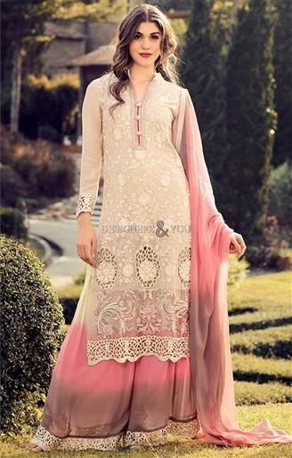 Order This Ever Stylish Cream Sharara Style Attractive Straight Cut Pakistani Dress Today. This Ceremonial Suit Is Well Embellished In Georgette. http://www.designersandyou.com/dresses/pakistani-dresses #LongDress #PalazzoPants #PalazzoSuits #PalazzoPaksitaniSuits #WithPants #Simple #Latest #ShalwarKameez #Mehndi #Party #Long #Palazzo #ForGirls #Suits #Dress #PakistaniSuits #PakistaniSuit #PakistaniDress #PakistaniDresses #Designersandyou #Dresses #Suits #Suit #Pakistani #PakistaniFashion