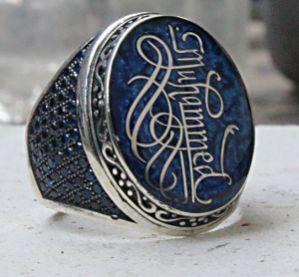 Kaligrafi Sanatı İle İsim Yazılı Özel Tasarım Gümüş Yüzük