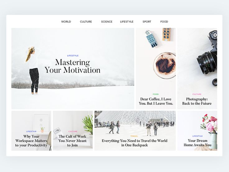 Online Magazine Layout by Norde