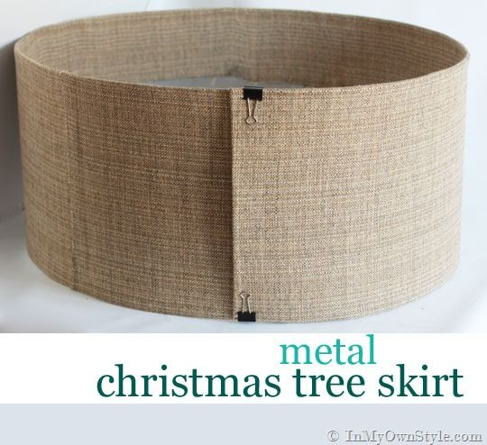 How-to-make-a-metal-Christmas Tree Stand  Cover- Great Idea to keep pets from drinking out of the tree water.
