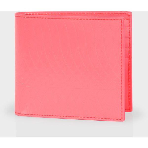 Paul Smith No.9 | Pink Patent Leather Billfold Wallet ($195) ❤ liked on Polyvore featuring men's fashion, men's bags, men's wallets and mens credit card holder wallet