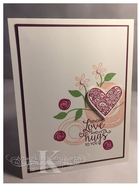 "Faithful INKspirations: Creation Station: Something Old, Something New--this card is made with Stampin' Up's ""Swirly Bird"" and ""Ribbon of Courage"" stamp sets."
