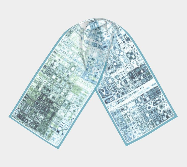 """Ocean Blue Mosaic Shawl 