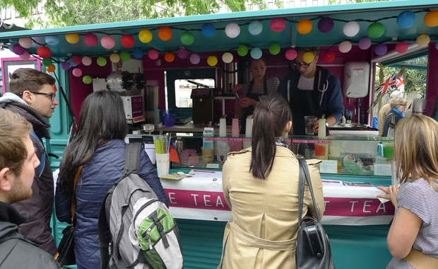 CUPP TEA BAR | Bubble Tea and Fruit Tea from a Citroen H van from   #Bristol #Somerset #England #UK