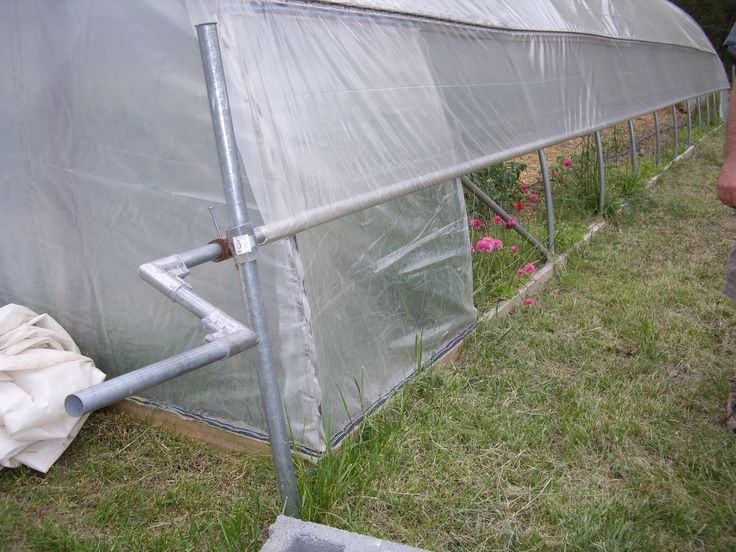 Diy for rollup sides on hoophouse greenhouse modern