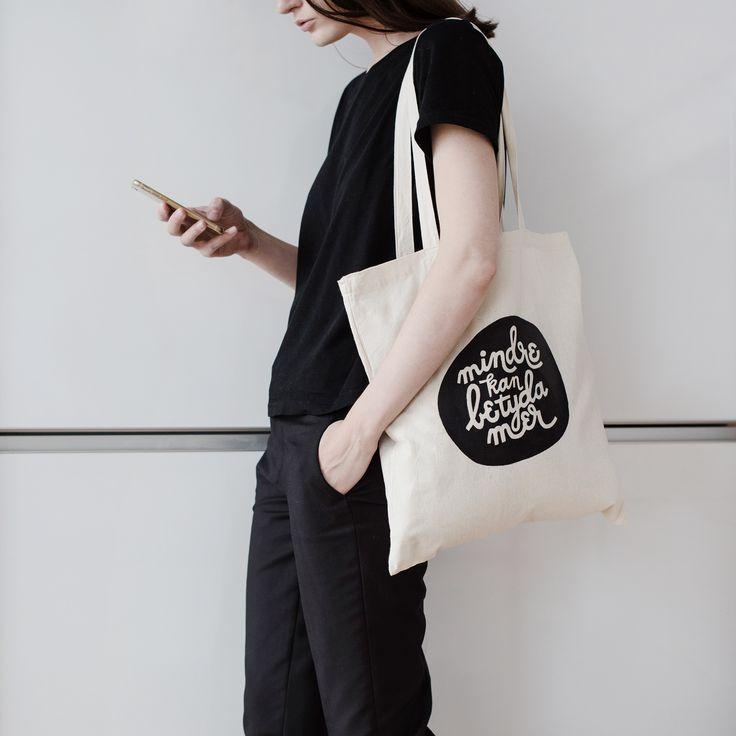 Tote bag #monochrome #monochromatic #minimalist #minimal #minimalove #blackandwhite #monochromeoutfit #totebag #tote #canvasbag #shoppingbag #lessismore #väska #lettering #handlettering #typography #typographydesign #sustainableliving #sustainablefashion #print #printdesign #printmaking #graphicdesign #graphicdesigner #design #fashion #grafiskdesign #outfit