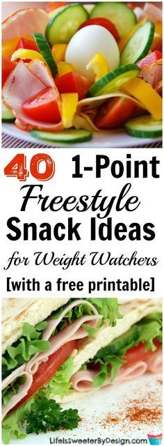 This free printable 1 Freestyle SmartPoint Snack Ideas for Weight Watchers list will help keep you satisfied and on plan. 1 point snacks can help keep you on track so you don't get too hungry during the day.