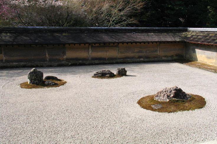 Dry Garden in Ryoanji Kyoto Japan
