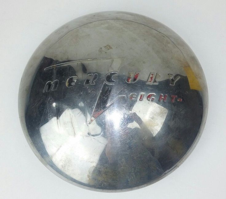 Mercury Eight 8 Chrome Wheel Hub Cap Chrome Dome Vintage Single 1940s Dog Dish  #Mercury