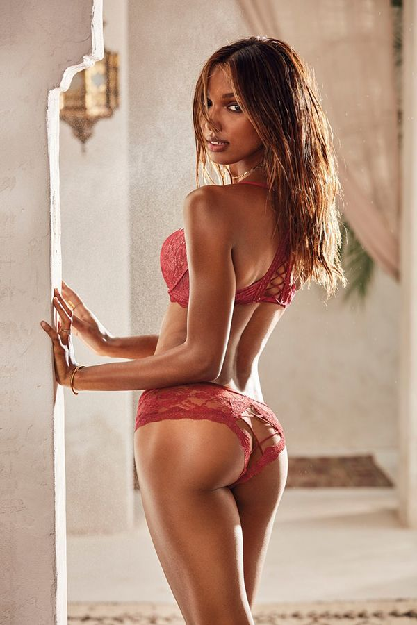 Laced-up lace. It's a thing.   Victoria's Secret