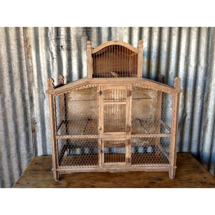 Image of Antique French Bird Cage