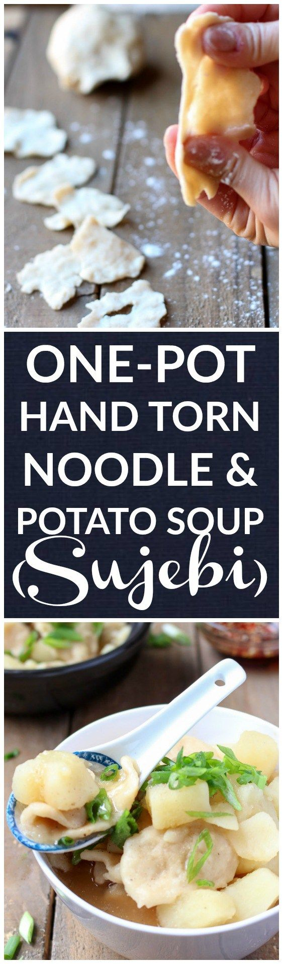 Follow this easy recipe to make delicious Korean one-pot hand torn noodle potato soup (Sujebi)!! |www.kimchichick.com