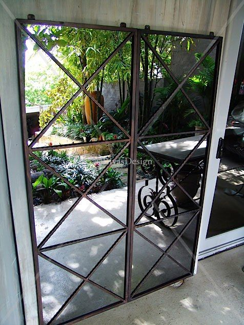 Triple cross outdoor mirror | Garden Mirror