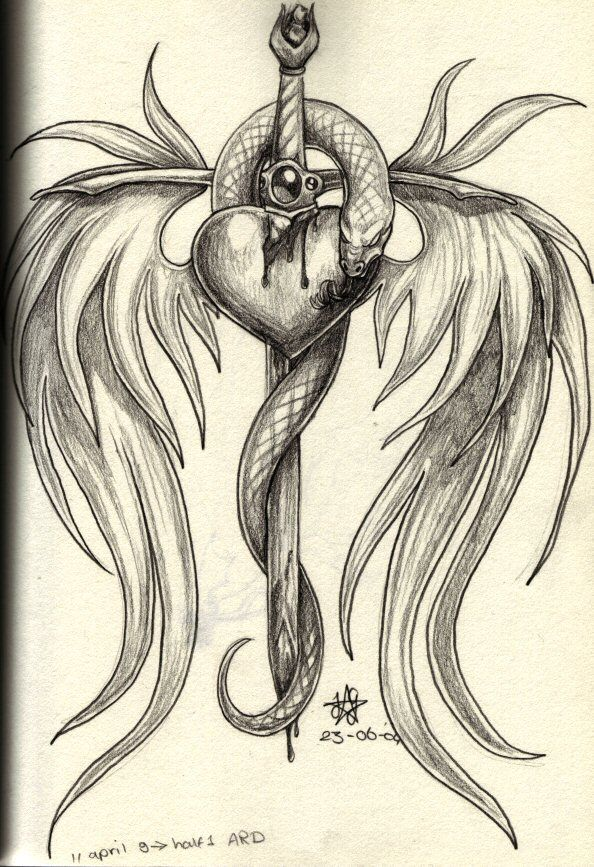 broken heart drawings | broken heart, I know, clichee by ~daisyamnell on deviantART