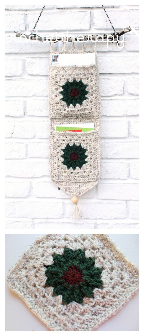 Crochet Cards Wall Organizer Free Pattern