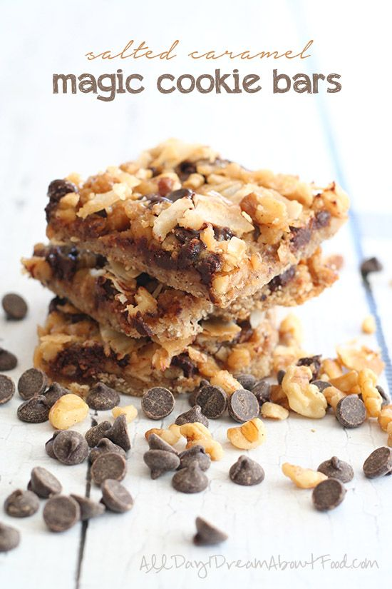 THM: Low Carb Salted Caramel Magic Cookie Bars | All Day I Dream About Food