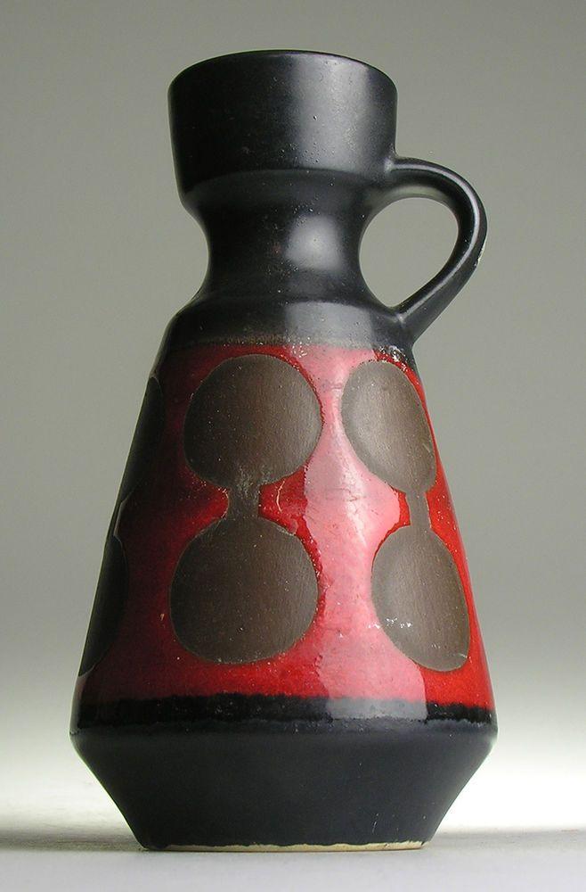 Dümler Breiden West Germany Pottery Modern 20 th Mid Century Vintage Op Pop Art