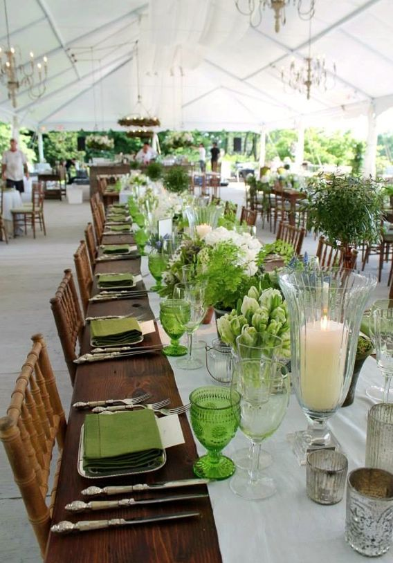#natural green wedding table... Wedding ideas for brides, grooms, parents & planners ... https://itunes.apple.com/us/app/the-gold-wedding-planner/id498112599?ls=1=8 … plus how to organise an entire wedding ♥ The Gold Wedding Planner iPhone App ♥
