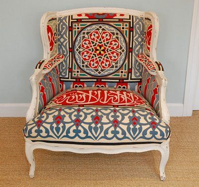upholstered with Egyptian tent