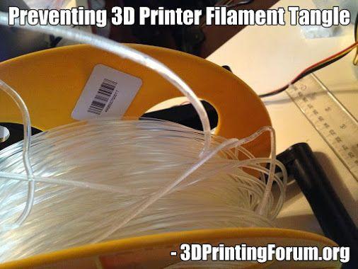 Preventing 3D Printer Filament Tangle