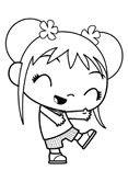 Kai Lan coloring page